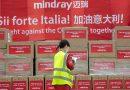 Mindray livre, en 15 jours, le premier lot de dispositifs médicaux en Italie